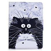 케이스 커버 ipad 프로 10.5 ipad (2017) 카드 홀더 지갑 스탠드 플립 전신 케이스 고양이 하드 pu 가죽 ipad 프로 9.7 air2 mini4 미니