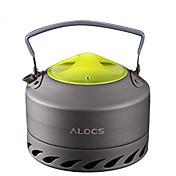 ALOCS 캠핑 주전자 캠핑 커피 보온병 커피와 차 휴대용 미네랄 알루미늄 용 피크닉 캠핑 & 하이킹 야외