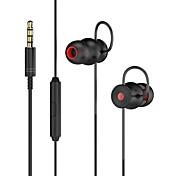 DA131 En el oido Con Cable Auriculares Dinámica Aluminum Alloy Teléfono Móvil Auricular Mini Con control de volumen Confort Ergonómico