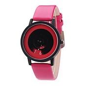 남성용 여성용 드레스 시계 패션 시계 손목 시계 독특한 창조적 인 시계 중국어 석영 PU 밴드 빈티지 참 캐쥬얼 우아한 블랙 화이트 블루 브라운 핑크