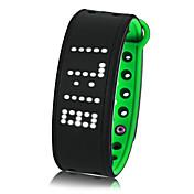 pulsera elegante resistente al agua / prueba del agua calorías de espera largas quemadas pedómetros ejercicio registro deportes pantalla
