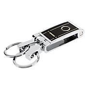 Acierage quadrat mit Double-Ringe und Double Schlüssellöcher