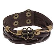 Hohle Blumen-Leder-Armband