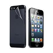 Transparente Schutzfolie für Vorder- und Rückseite für iPhone 5 (3 Stück)