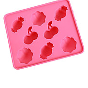 Cartoon Süßigkeit Fruit Shaped Ice Tray Mould (zufällige Farbe)