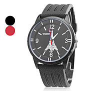 Unisex Wrist Style Silicone Analog Quartz Casual Watch (Assorted Colors)