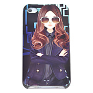 Wavy Hair Girl Pattern Hard Case for iPhone 4/4S
