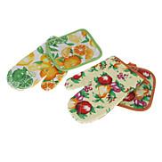 Fruit Pattern Oven Mitt & Pot Pad (Random Color)