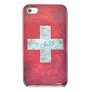 Vintage Switzerland Flag Pattern Hard Case for iPhone 4/4S