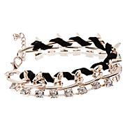 Rope Woven Diamond Rivet Bracelet