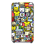 Cartoon Plaid Man Pattern Hard Case for iPhone 4/4S