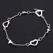 Z&X®  925 Sterling Silver Plated T Heart Love Full Marks the New Bracelet