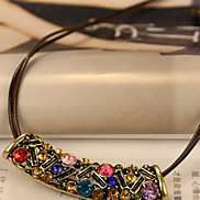 Vintage Multicolor Moon Pattern C Style Necklace