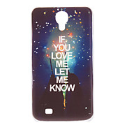 """Let Me Know You Love"" Pattern Hard Case for Samsung Galaxy Mega 6.3 I9200"