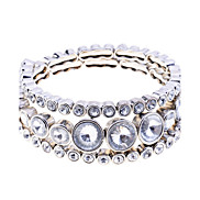 Lureme Full Crystals Alloy Bangle