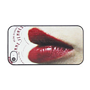 Sexy Lips Pattern Back Case for iPhone 4/4S