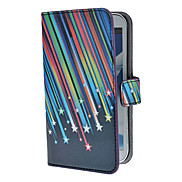 Meteor Shower Pattern PU Leather Case with Stand and Card Slot for Samsung Galaxy Note 2 N7100