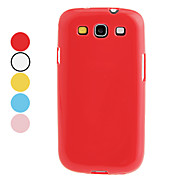 For Samsung Galaxy Case Other Case Back Cover Case Solid Color TPU Samsung S3