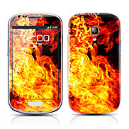Fire Pattern Front and Back Protector Stickers for Samsung Galaxy S3 mini I8190