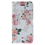 Fragrant Smell Blooming Roses Pattern Full Body Case with Matte Back Cover and Stand for iPhone 5/5S
