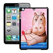 Hippopotamus Pattern 3D Effect Case for iPad mini 3, iPad mini 2, iPad mini