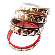 Eruner®Punk Style Rivet Leather Bracelet (Assorted Color)
