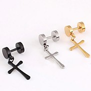 Earring Cross Drop Earrings Jewelry Men Wedding / Party / Daily / Casual / Sports Stainless Steel Christmas Gifts
