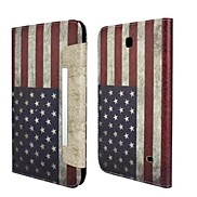 Fashion National Flag PU Leather Full Body Case with Strap and Sticker for Samsung Galaxy Tab 4 8.0 T330