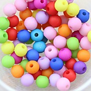 Z&X®  DIY Beads Material Candy Color Arenaceous Beads 10MMX10MM 100 PCS(Random Color, Pattern)