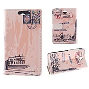 Oil Painting Design of Big Ben PU Full Body Case with Card Slot for HTC Desire 310
