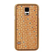 Elonbo Scratchable Latex Stick Wood Drill Point Hard Back Case Cover for Samsung Galaxy S5 I9600