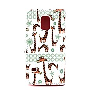 The Giraffe Pattern PU Leather Full Body Case with Stand for Samsung Galaxy S5 Mini G800