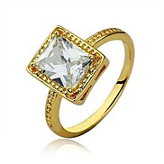 Free Shipping New 18K Gold Plated Classic Design Luxurious Design 18KGP Gold Plated Ring