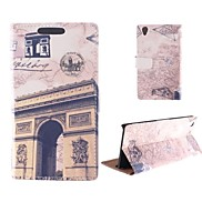 Design of The Arc DE Triomphe PU Full Body Case with Card Slot for Sony Xperia Z2