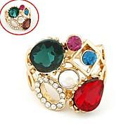 Fashion Sweet Temperament Diamond Gemstone Ring (Random Color)
