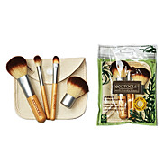 4 Pcs Bamboo Handle And Environmental Cosmetic Brush