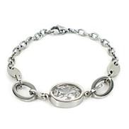 Fashion Women's Oval Silver  Crystal Bracelets