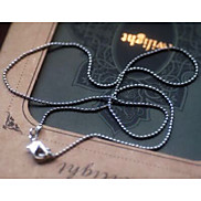 Vintage Silver Bead Chains DIY Material Necklace(1 Pc)