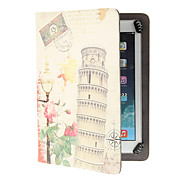 The Leaning Tower of Pisa Pattern Adjustable Clamp Style PU Leather Case Universal for Samsung 9.0&10.0 Inches Tablets