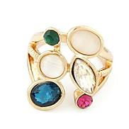 Fashion Sweet Temperament Simple Diamond Gemstone Rings