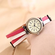 Women's Latest Fashionable  Vintage  Lady Epidermis Table Watches(Assorted Color)