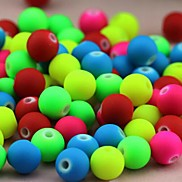 Z&X®  DIY Beads Material Colored Fluorescent Beads 6MMX6MM 100 PCS(Random Color, Pattern)