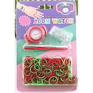 Z&X®  Loom Watchd DIY Multicolor Rainbow Weaving Rubber Band Watch Suits