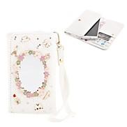Elonbo Diamond Grain Beautiful Mirror Style Leather Wallet Full Body Case for Iphone4/5/5C