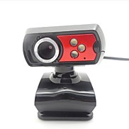 FX1 Peter Pan 4-LED 5.0 Megapixels USB 2.0 Clip-on PC Camera Webcam with Microphone
