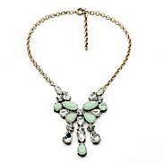Elegant Water Drop Rhinestone Tassel Necklaces (Light Green) (1 Pc)