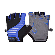 KORAMAN Unisex Blue Protection Pad Shockproof Short Finger Cycling Gloves
