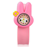 Kid's  Lovery Round Dial Rubber Band  Quartz Wrist Watches Cool Watches Unique Watches