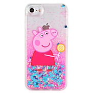 Case  for Apple iPhone 7 7 Plus Cartoon Pig Lollipop Glitter Shine Pattern Flowing Liquid Hard  PC  6s Plus 6 plus 6s 6