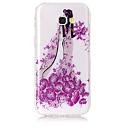 Case For Samsung Galaxy A5(2017) A3(2017) Phone Case TPU Material IMD Process Butterfly Girl Pattern HD Flash Powder Phone Case